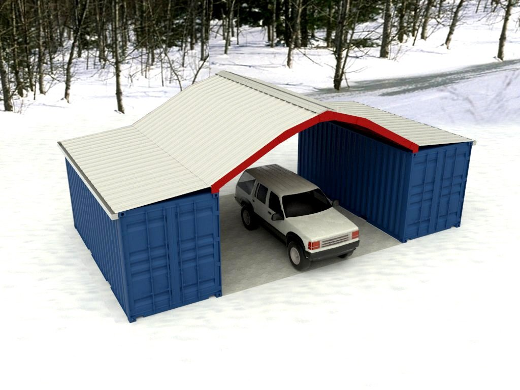 Standard kits shield for Gambrel garage kit